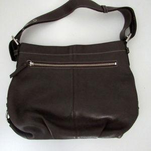 Coach Pebbled Leather Espresso Brown Shoulder Bag